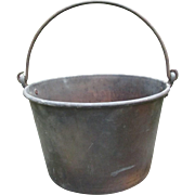 Brass Apple Butter Kettle - The American Brass Kettle Manufacturers - 1800's