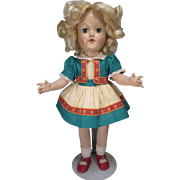 P-90 Ideal Hard Plastic Toni Doll in Original Outfit - 1949-1953