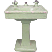 """Wooden Bathroom Sink for Dollhouse or Display - Large 1"""" Scale - Made in Japan"""