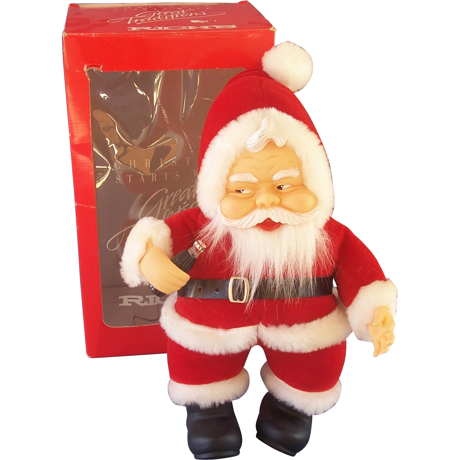 Furniture Stores In Carrollton Tx Coca Cola Plush Santa Doll in Original Box from grannyts on Ruby Lane