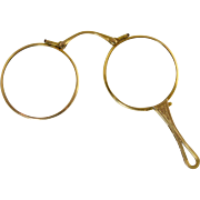 SALE PENDING Antique 10k Gold Lorgnette Folding Eye Glasses Spectacles