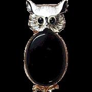 Vintage ORIGINAL BY ROBERT Jelly Belly Owl Pin Brooch
