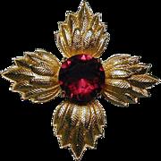 Vintage VAN S. AUTHENTICS Maltese Cross Pin Pendant
