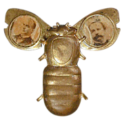 SOLD 1896 McKinley - Hobart Gold Bug Mechanical Campaign Pin
