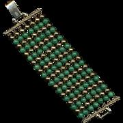 Vintage CORO PEGASUS Wide 7-Strand Beaded Bracelet