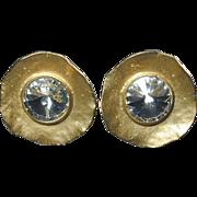 Vintage NORMA JEAN Bombshell Rhinestone Clip Earrings