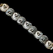 Vintage Mexican Sterling Silver Link Bracelet - Old Style Unsigned