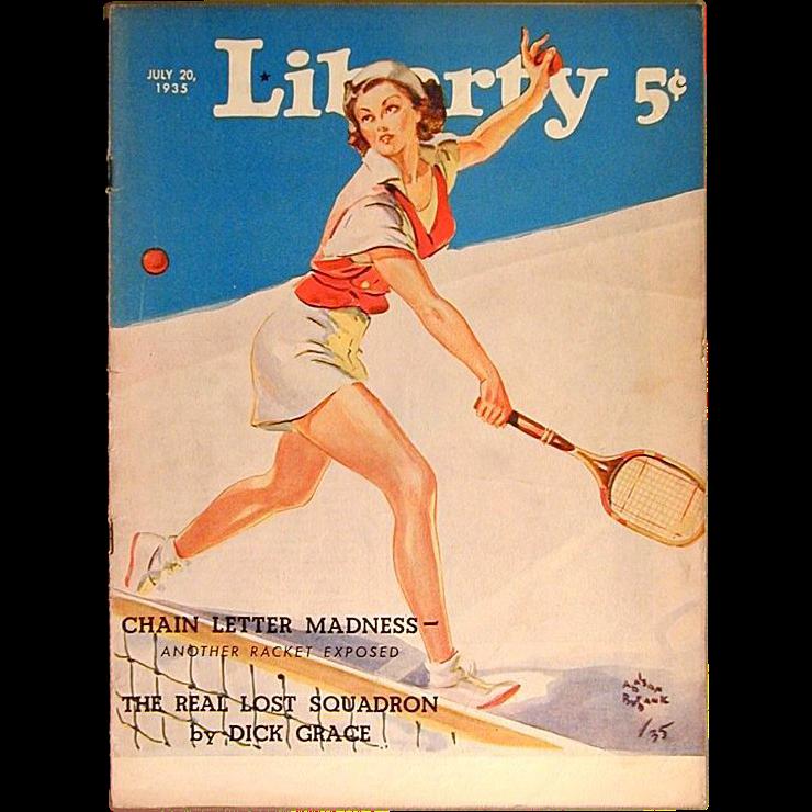 Liberty Magazine Covers July 1935 Liberty Magazine w/