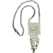 Kramer of New York Waterfall Rhinestone Necklace