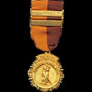 Vintage 1950s Harvest Moon Ball Ballroom DANCE Medal Award