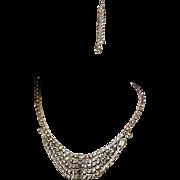 Vintage KRAMER Icy Clear Rhinestone Necklace w/ Bonus Pieces