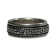 Vintage Sterling Silver Ring Within-a-Ring - It Turns