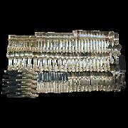103 Piece Set Wallace Grande Baroque Sterling Silver Flatware