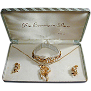 Vintage 1950s EVENING IN PARIS Jewelry Set in Box
