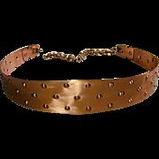 Modernist Signed RENOIR Solid Copper Belt