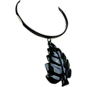 Vintage Exotic Zebu Horn Necklace - Carved & Beautiful