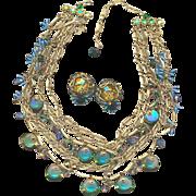Gorgeous Austrian Crystal Necklace & Earring Set
