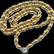 Estate 14K White / Yellow Gold Necklace w/ Diamond