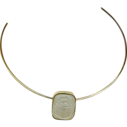 1976 MMA Museum Sterling Silver Scarab Necklace - King Tut Exhibit