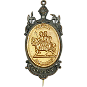 Antique 1880s Masonic Medal Knights Templar Temple Commandery No. 2 Albany, N.Y.
