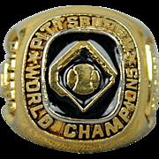 Vintage 1960 Pittsburgh Pirates Championship Ring - Rare Food Chain Promo