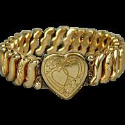 Victorian 1900s CARMEN Sweetheart Expansion Bracelet Hearts