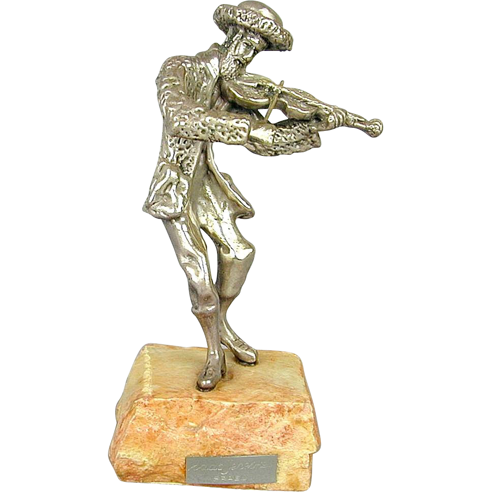 Sterling Silver Isaac Jeheskel Jewish Fiddler Figurine  Judaica From Rubylane Sold On Ruby Lane