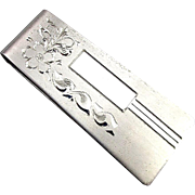 Vintage Sterling Silver Mens MARVEL Money Clip