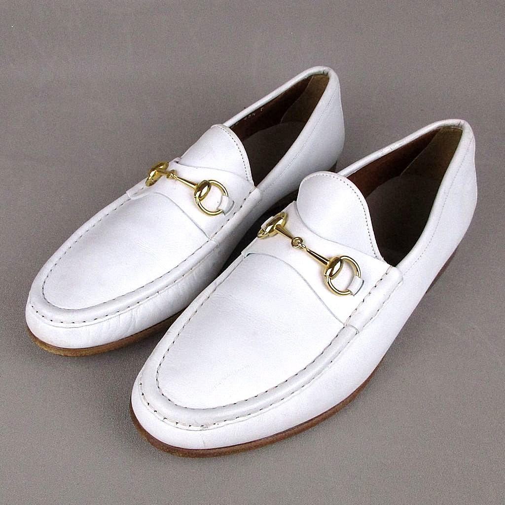 Designer Clothes Shoes | GUCCI Men's Dress Shoes #260 |White Gucci Dress Shoes For Men