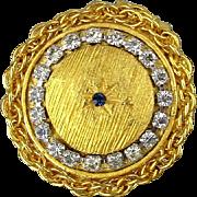 Vintage GOLDETTE Jeweled Rhinestone Pill Box Unused in Orig. Box