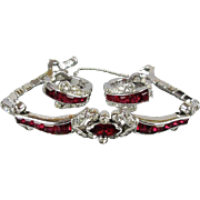 Jomaz MAZER Invisible Set Rhinestone Bracelet w/ Matching Earrings