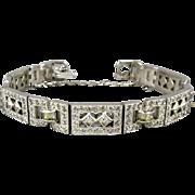 Art Deco Era E.B. Engel Bros. Faux Diamond Bracelet