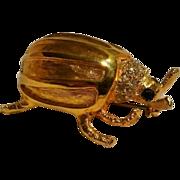 KJL beetle bug Kenneth Lane rhinestone