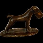 Mid Century Modern miniature Dog cast bronze