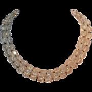 Hattie Carnegie crystal bead necklace 2 strand
