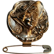 Gibson girl chatelaine safety pin Edwardian Era