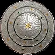 Watson sterling enamel pin golden shamrocks, basse taille enamel green dots