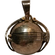 Taxco sterling six  photo locket sphere orb pendant