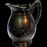 Antique Meriden B Britannia Company water pitcher ewer silver plate