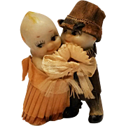 Kewpie Doll cake topper bride & groom huggers bisque Japan
