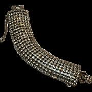 Weiss rhinestone bracelet wide eight row