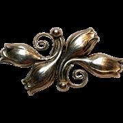 Joskah Denmark sterling silver pin JK