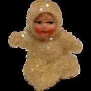 SOLD Miniature antique snowbaby painted bisque face