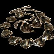 Danecraft sterling silver stylized leaf necklace earrings set