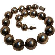 Taxco sterling chunky bead necklace