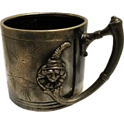 Reed & Barton silver plated mug cup jester clown grotesque