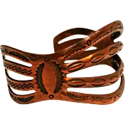 Bell Trading Post copper cuff bracelet Southwest