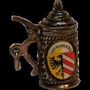 Souvenir 800 silver enamel stein charm Nurnberg