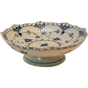 Royal Copenhagen blue fluted full lace compote bowl 1023