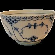 Royal Copenhagen fluted blue half lace bowl 592